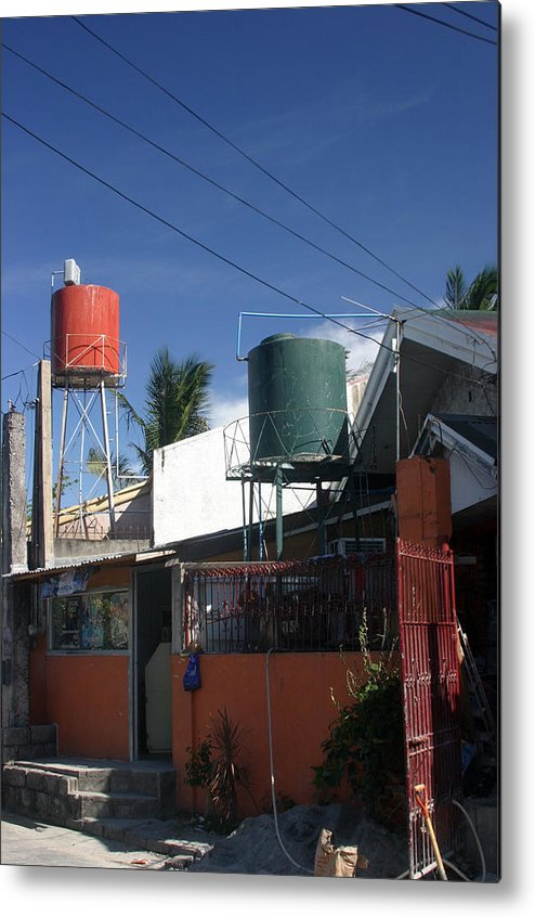 Photographer Metal Print featuring the photograph Tubig Towers by Jez C Self