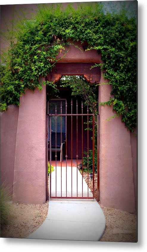 Vine Metal Print featuring the photograph Vine Covered Entry by Bob Gardner