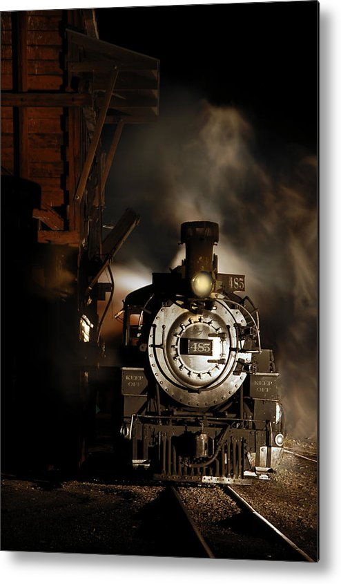 Steam Train Photographs Metal Print featuring the photograph Waiting For More Coal by Ken Smith