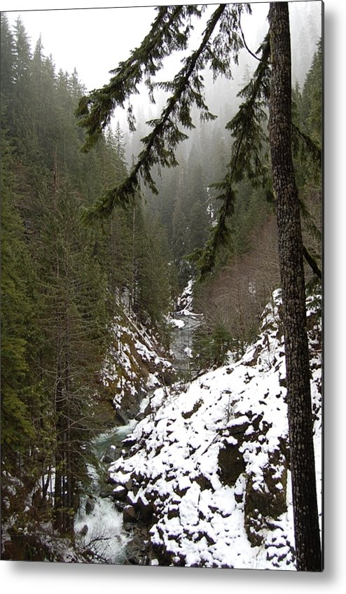 Mountain Metal Print featuring the photograph Winter by J D Banks