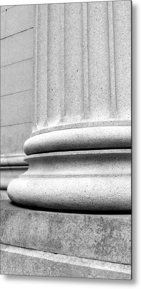 Column Base Metal Print featuring the photograph Column Base by Douglas Pike