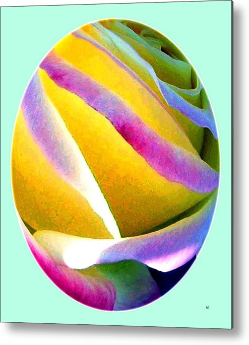 Abstract Rose Oval Metal Print featuring the digital art Abstract Rose Oval by Will Borden