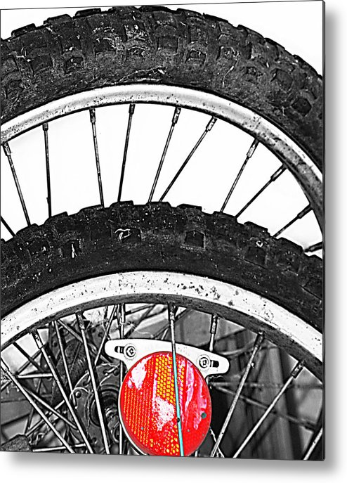 Elm Metal Print featuring the photograph Big Wheels Keep On Turning by Jerry Cordeiro