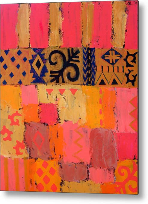 Abstract Metal Print featuring the painting Composition 1 by Aliza Souleyeva-Alexander