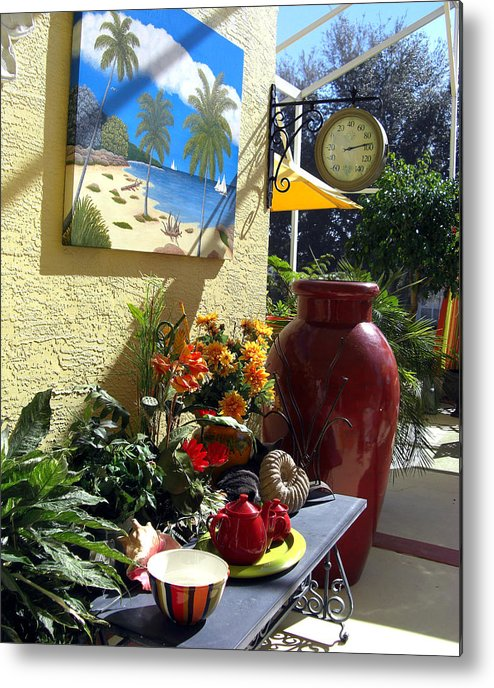 Still Life Photography Metal Print featuring the photograph A Place In The Sun by Frederic Kohli