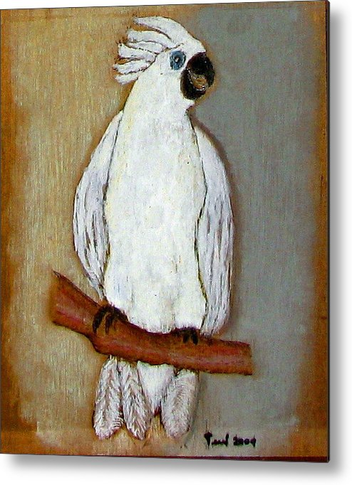 Bird Metal Print featuring the pastel Bird by Ismael Alicea-Santiago