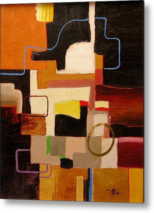 Abstract Metal Print featuring the painting Commute by David McKee