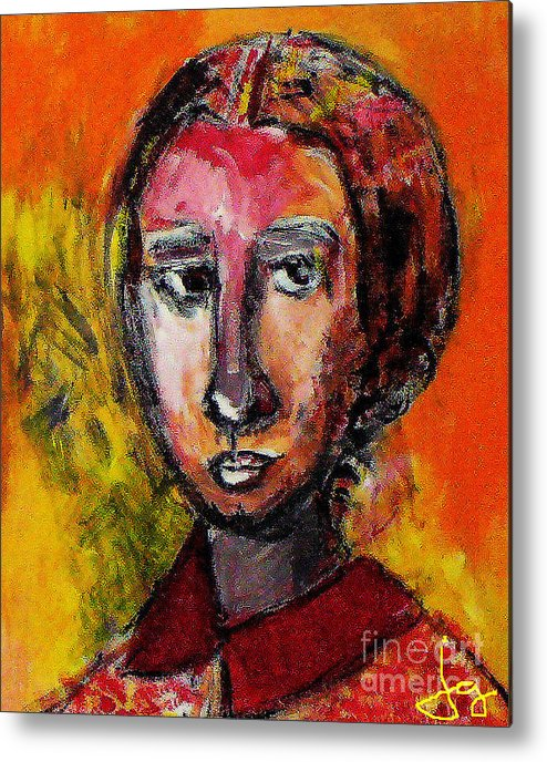 Woman Metal Print featuring the painting Copy Of A Master by Joyce Goldin