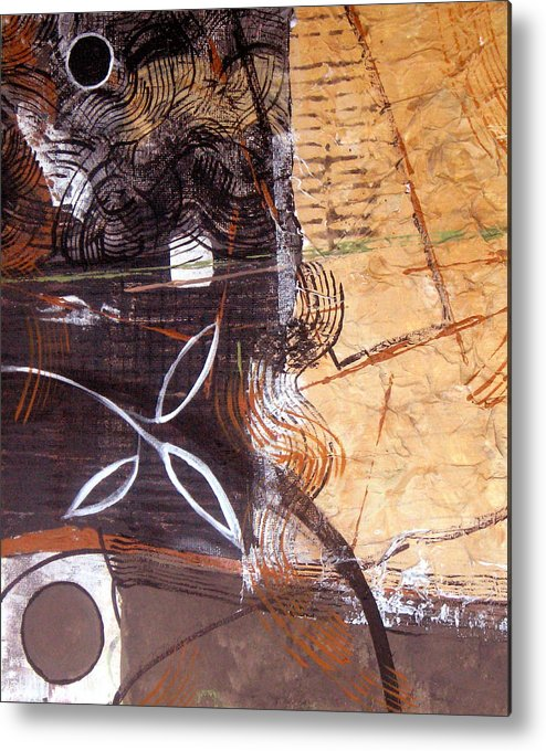 Abstract Metal Print featuring the painting Hidden Treasures by Ruth Palmer