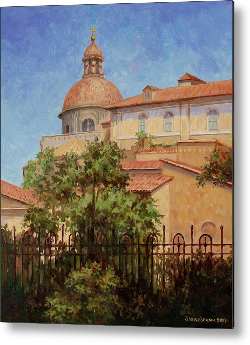 Rome Metal Print featuring the painting Hot Summer In Rome by Arkady Zrazhevsky