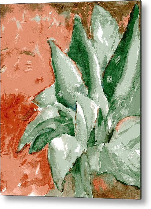 Cactus Metal Print featuring the painting Indian Signs by Marilyn Barton