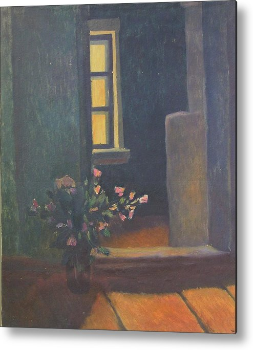 Bouquet Of Flowers Metal Print featuring the painting Interior With A Bouquet by Andrey Soldatenko