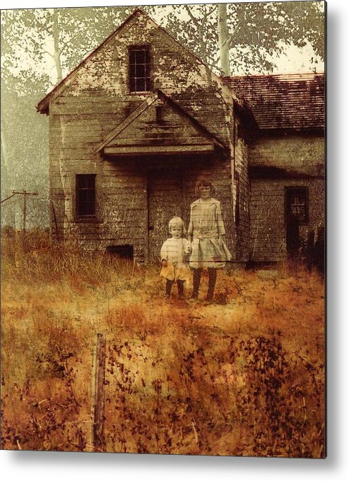 Ghosts Metal Print featuring the photograph Little Sister by Brande Barrett