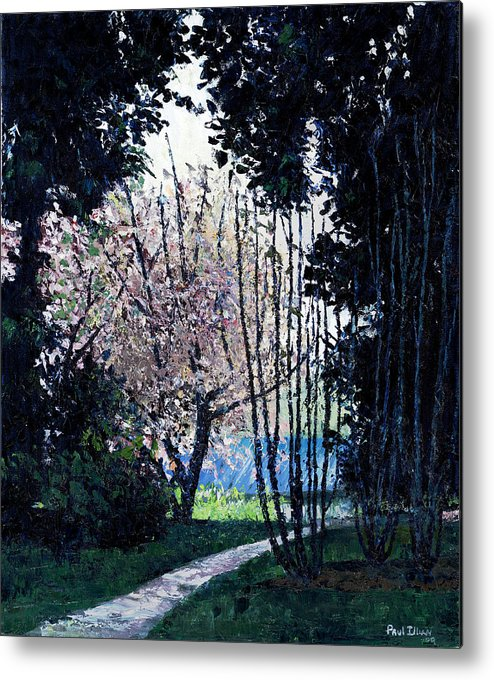 Trees Metal Print featuring the painting Looking Back by Paul Illian
