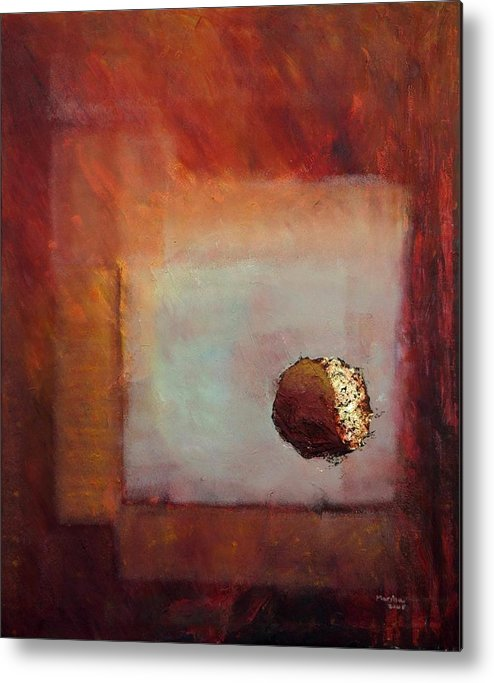 Abstract Metal Print featuring the painting 'looking In' by Marina Harris