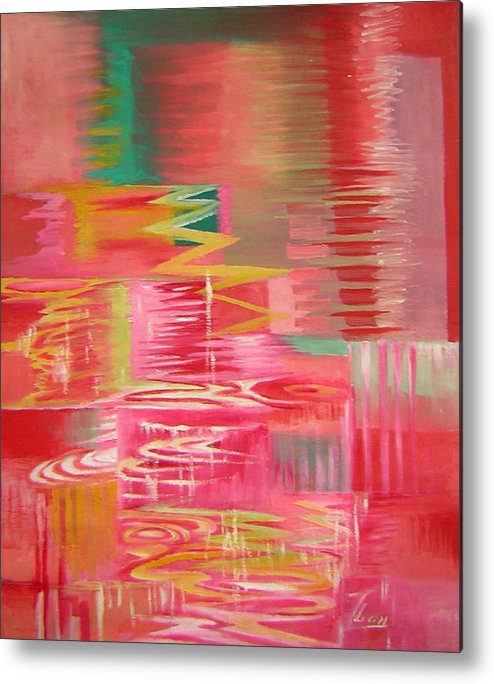 Abstract Metal Print featuring the painting Ripples No.3 by Lian Zhen