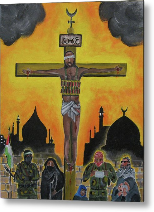 Shahid Metal Print featuring the painting Shahid Or Martyr by Darren Stein