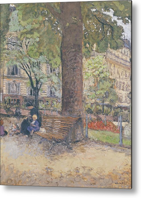 The Metal Print featuring the painting The Square At Vintimille by Edouard Vuillard