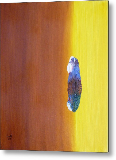 Painting Metal Print featuring the painting Up To The Top by Greg Gierlowski