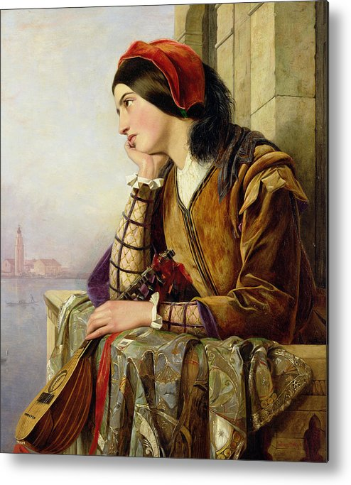 Woman In Love Metal Print featuring the painting Woman In Love by Henry Nelson O Neil