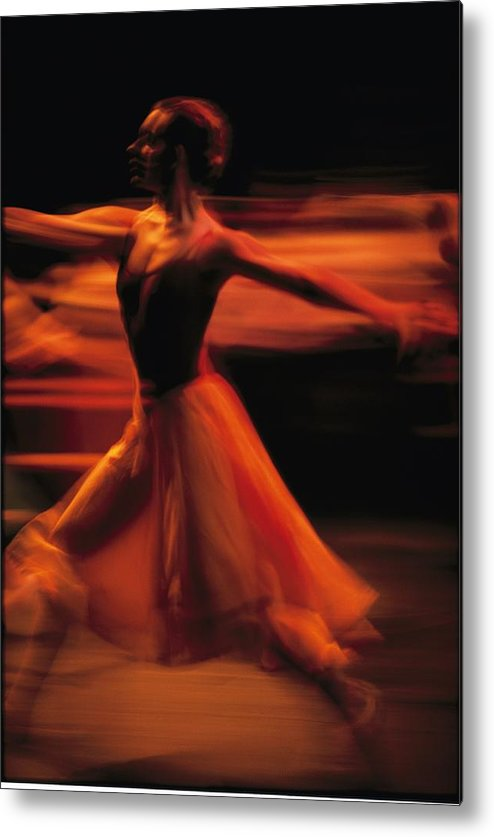 Africa Metal Print featuring the photograph Portrait Of A Ballet Dancer Bathed by Michael Nichols