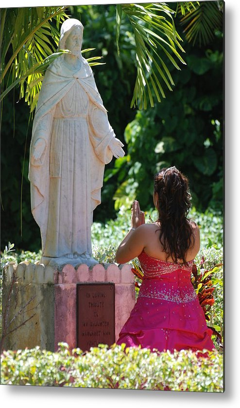 Portrait Metal Print featuring the photograph The Praying Princess by Rob Hans