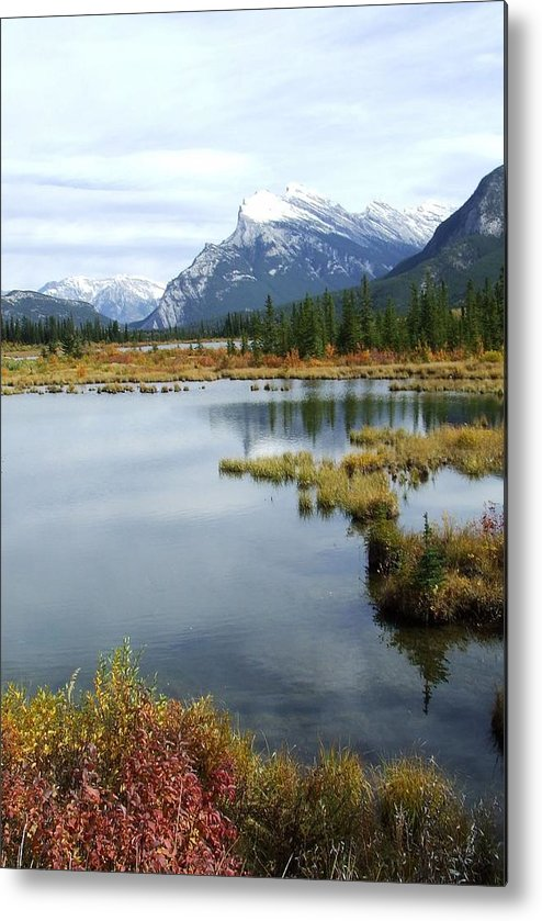Banff National Park Metal Print featuring the photograph Vermillion Lakes by Tiffany Vest