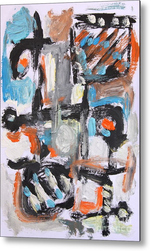 Metal Print featuring the painting Abstract 6834 by Michael Henderson