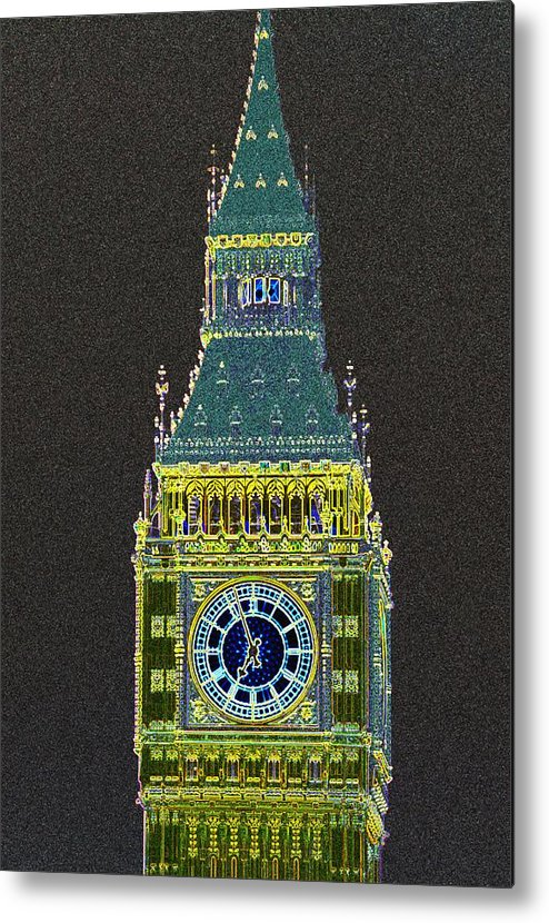 Big Ben Metal Print featuring the photograph Big Ben Glowing by Charles Ridgway