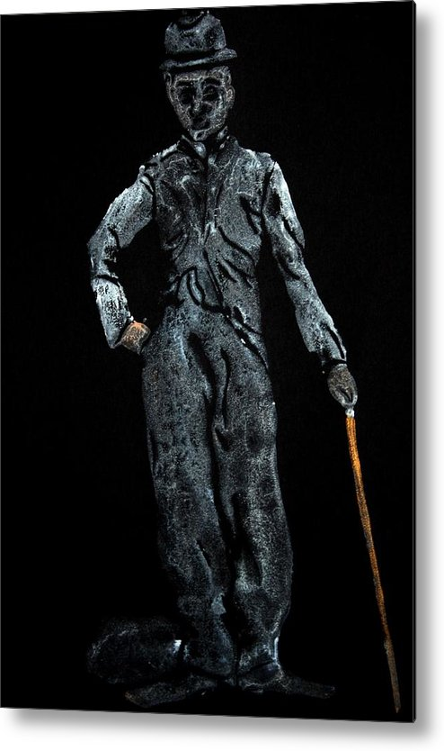 Charlie Chaplin Metal Print featuring the painting Charlie Chaplin by Ana Bikic