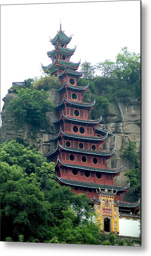 China Metal Print featuring the photograph Chna by Charles Ridgway