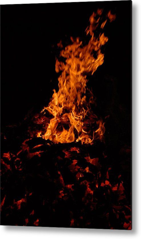 Fire Metal Print featuring the photograph Dancing Fire by Steven Crown