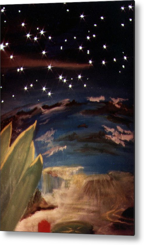Surreal Metal Print featuring the painting Enter My Dream by Steve Karol