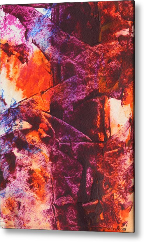 Tree Metal Print featuring the painting Fall by Mordecai Colodner