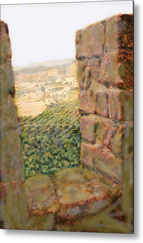 Portugal Metal Print featuring the photograph From The Castle Walls by Ian MacDonald