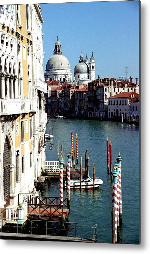 Venice Metal Print featuring the photograph Grand Canal In Venice From Accademia Bridge by Michael Henderson