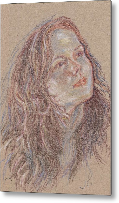 Portrait Metal Print featuring the painting Great C Major by Horacio Prada