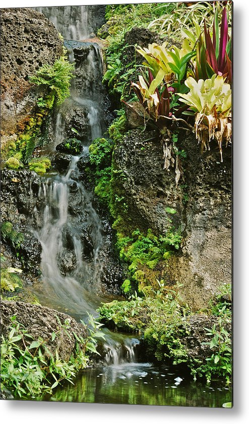 Waterfall Metal Print featuring the photograph Hawaiian Waterfall by Michael Peychich