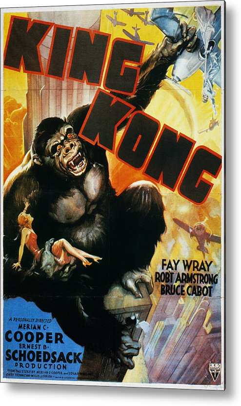1933 Metal Print featuring the photograph King Kong Poster, 1933 by Granger