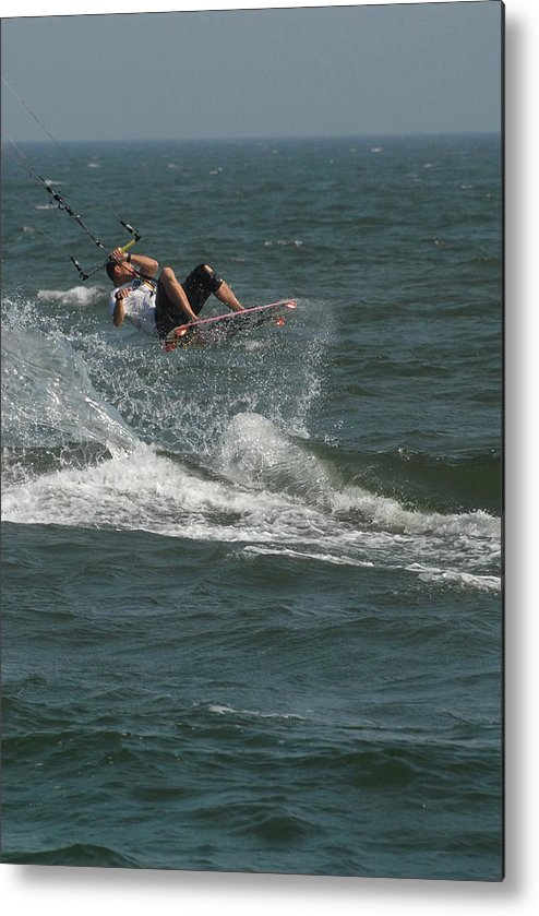 Kite Surfing Metal Print featuring the photograph Kite Surfing 22 by Joyce StJames