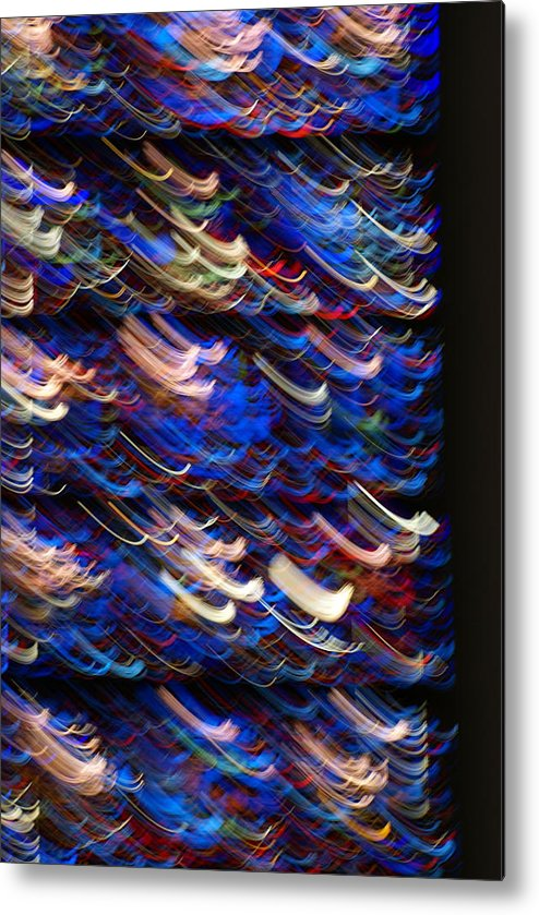 Stined-glass Metal Print featuring the photograph Light In A Stained-glass by Helene Champaloux-Saraswati