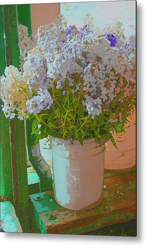 Lilacs Metal Print featuring the photograph Lilacs by Lydia L Kramer