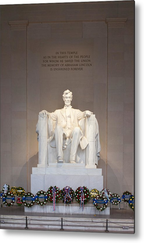 Clarence Holmes Metal Print featuring the photograph Lincoln Memorial I by Clarence Holmes