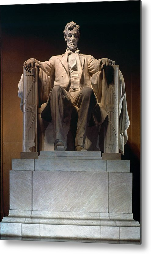 19th Century Metal Print featuring the photograph Lincoln Memorial: Statue by Granger
