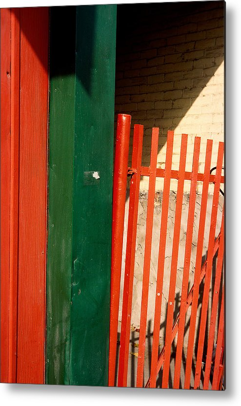 Montreal Metal Print featuring the photograph Mntrl Orange Gate 2 by Art Ferrier