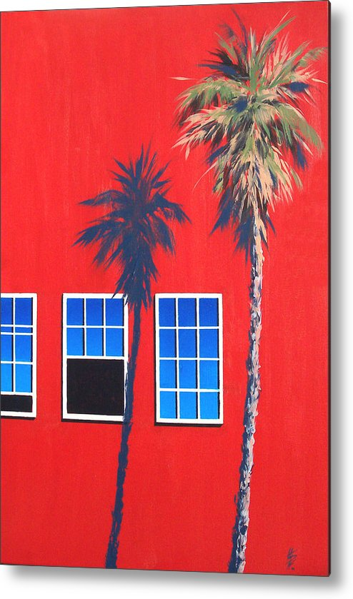 Palm Tree Metal Print featuring the painting Newport Afternoon by Philip Fleischer