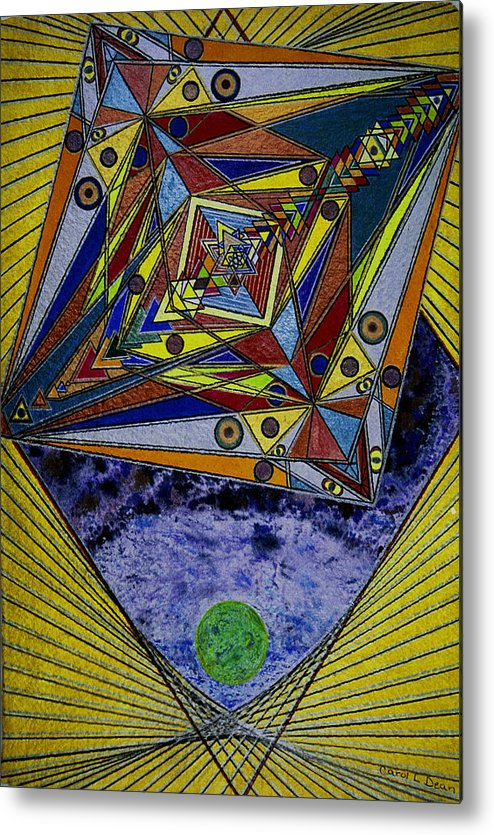 New Age Metal Print featuring the painting Of Time And Space by Carol Dean