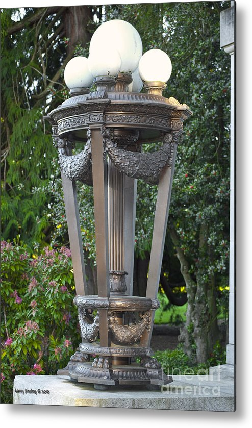 Light Metal Print featuring the photograph Old Lighting by Larry Keahey