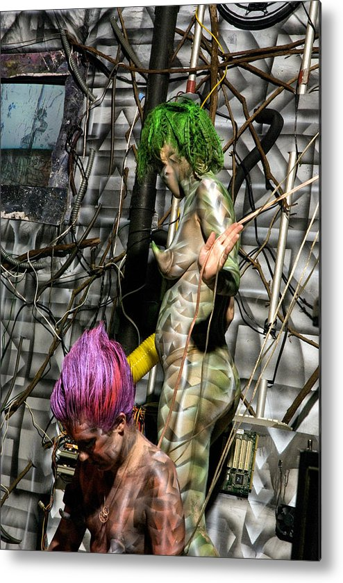Paint Metal Print featuring the painting Orgomechanic Deirdreellanor by Leigh Odom