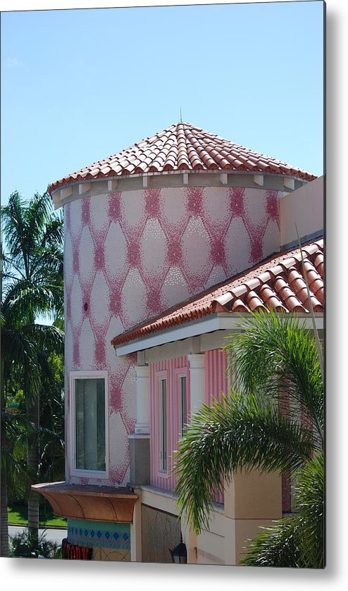 Architecture Metal Print featuring the photograph Pink Tower by Rob Hans